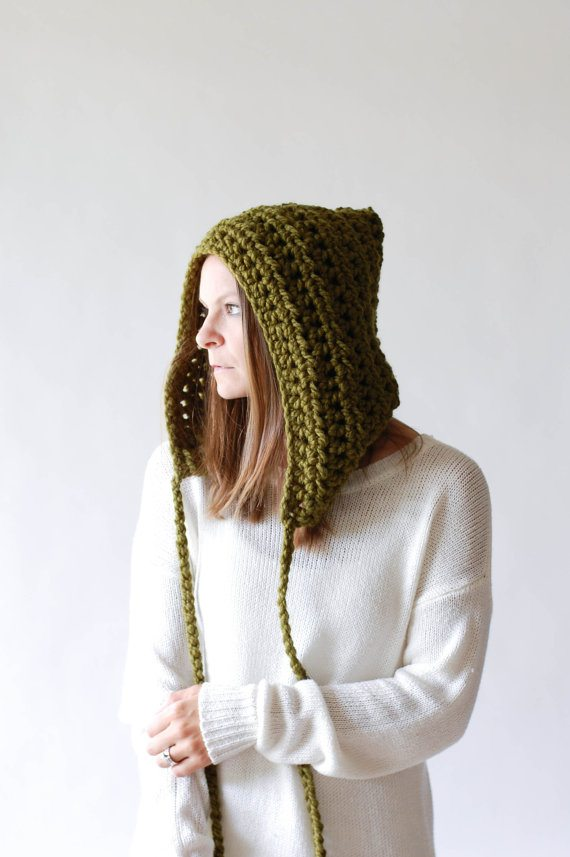crochet hood hat