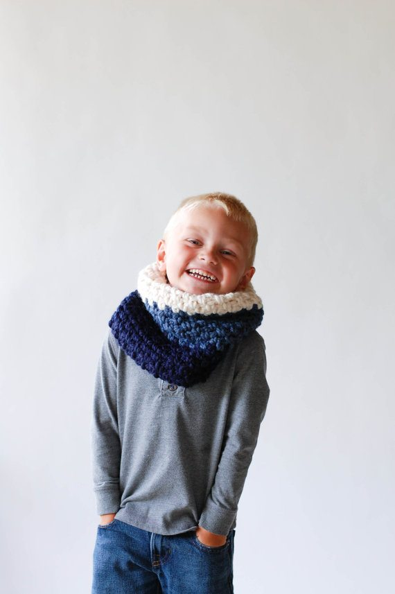 crochet kids' cowl
