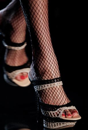 gaultier 6 Gaultier Features Crochet Shoes on the Runway