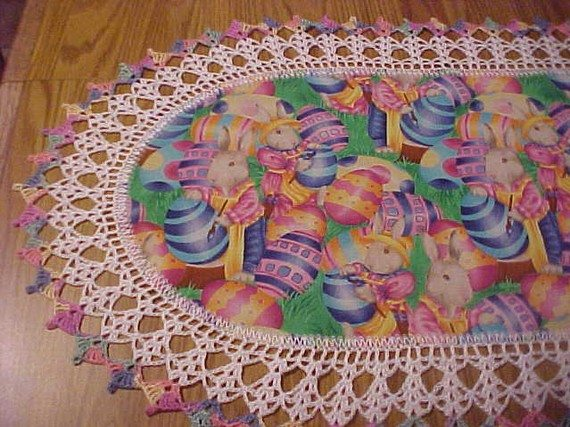 other table Runner runners table crochet crochet Easter runners Table on and Crochet   Etsy: