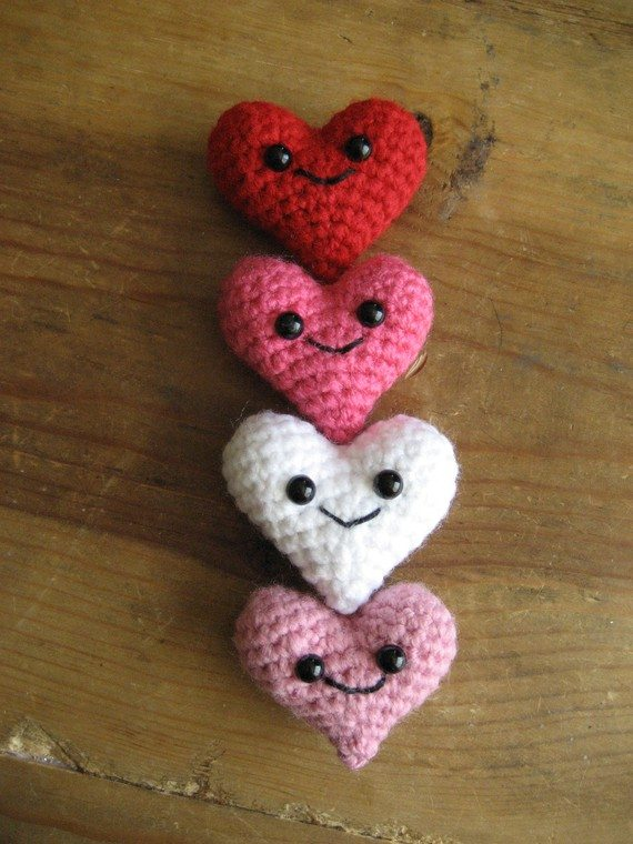 Crochet On Etsy Sweethearts For Valentines Day