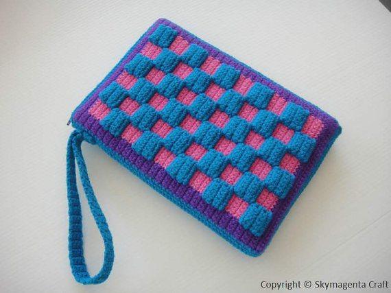 checkered crochet purse pattern