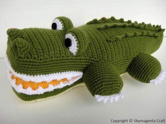 crochet alligator pattern
