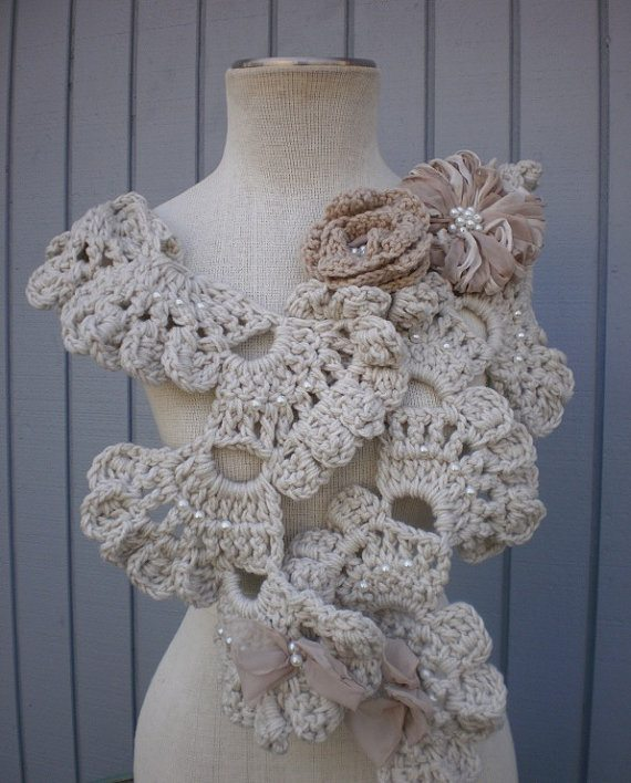 crochet art neckwarmer
