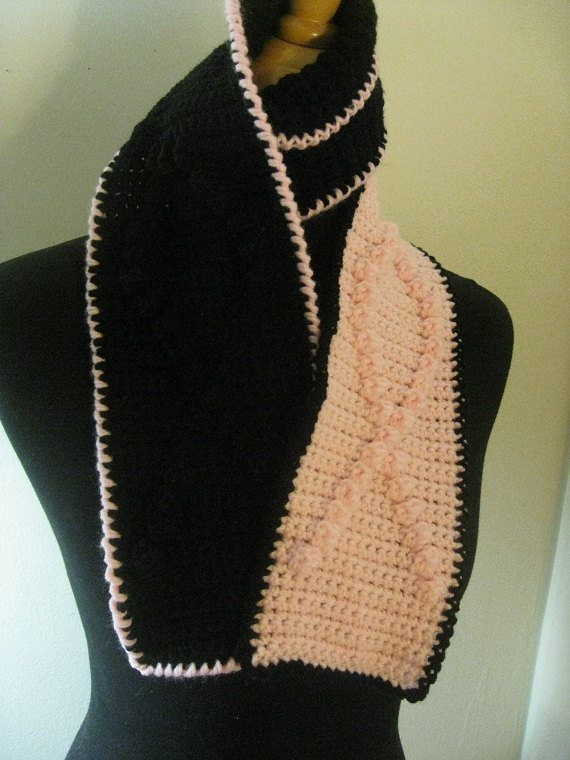 crochet awareness scarf