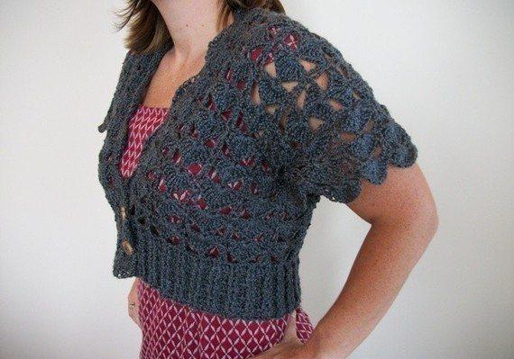 crochet padrão bolero
