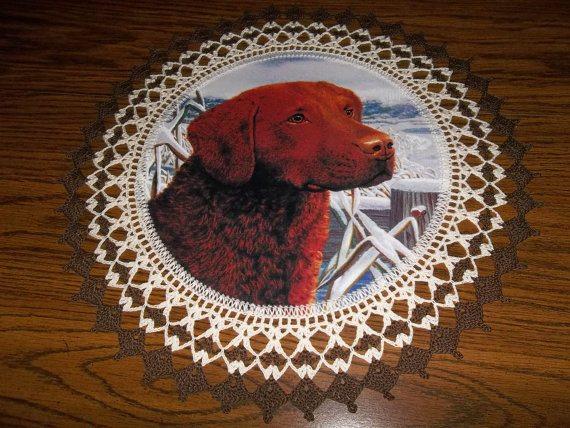 crochet dog table runner