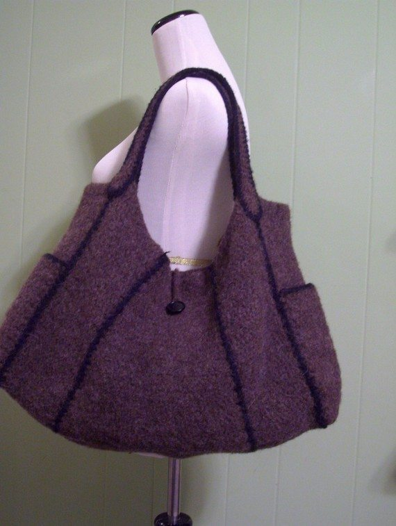 crochet feltro padrão bolsa