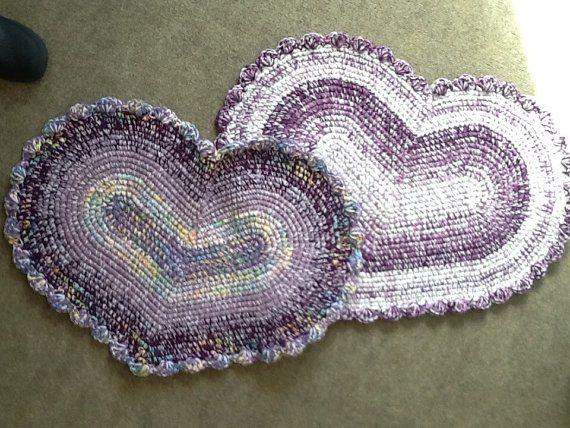 crochet heart rugs