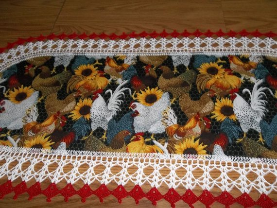 crochet kitchen table runner
