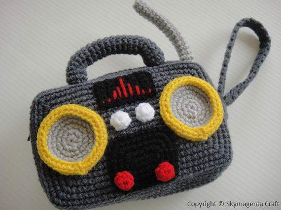 crochet radio purse pattern