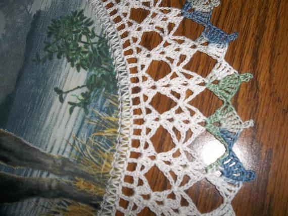 crochet table runner round