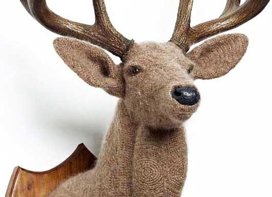 crochetdermy deer sculpture