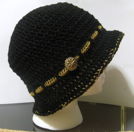 il 570xN.182549002 Crochet on Etsy: Crochet Cloche and Ribbon Awareness Scarves