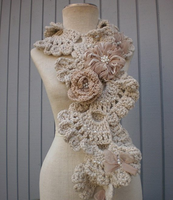 light crochet scarf Crochet on Etsy: Seashell Neck Warmers