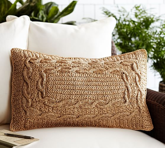 paper crochet pillow