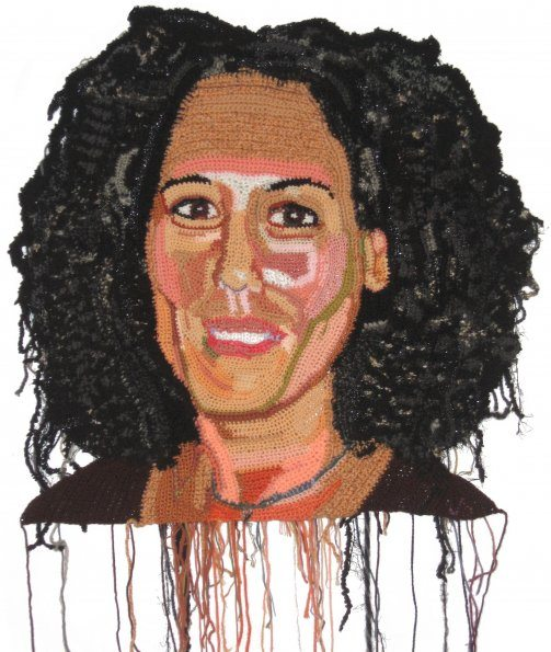 lisa marcus website 595 Detailed Crochet Portrait Artist: Jo Hamilton