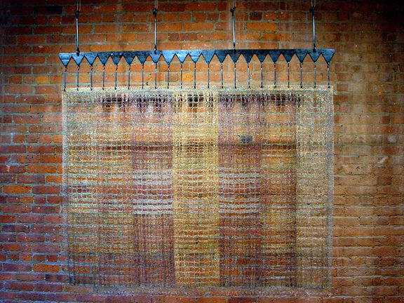 Strips Plaited Metal Crochet Artist: Tracy Krumm