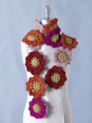 floral crochet scarf 25 Different Ideas for Crocheting a Scarf