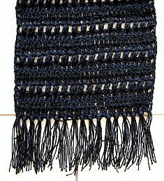 fringe scarf 25 Different Ideas for Crocheting a Scarf