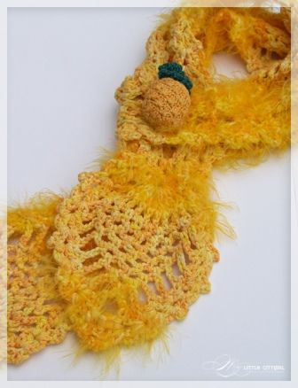 pineapple scarf 25 Different Ideas for Crocheting a Scarf