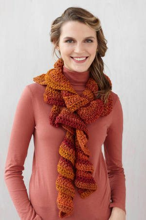 ruffle scarf 25 Different Ideas for Crocheting a Scarf