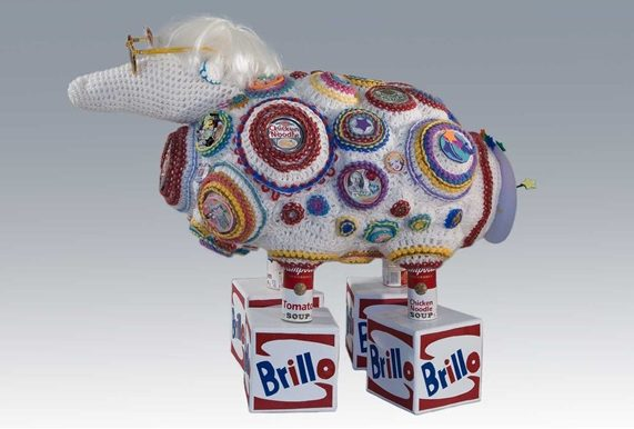 andy warhol crochet sheep