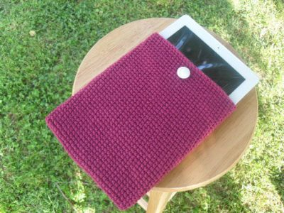 crochet ipad confortable