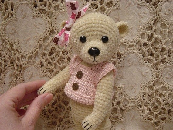 Free Teddy Bear Cowl Crochet Pattern : crochet bear