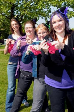 walkers crochet web.jpg.display Happy Hookers Crochet While Walking 13 Miles in the Dark!