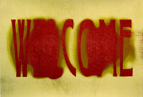 SS10 Woodblock welcome 500x340 Male Crochet Artist Team Miller & Shellabarger
