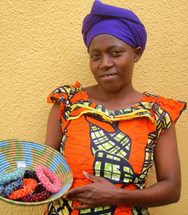Sada, a crochet artisan with Same Sky