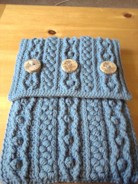 crochet bobble laptop case