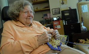 g12c0000000000000004d6500cb4433cadfef72a0c94f561366cf1ded30 92 Year Old Nearly Blind Woman Crochets for Charity