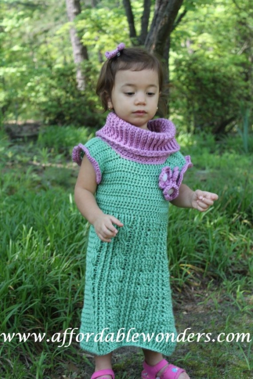 il 570xN.241728064 500x750 My Crochet (and Pattern Review): Sleeveless Cowl Neck Cable Dress