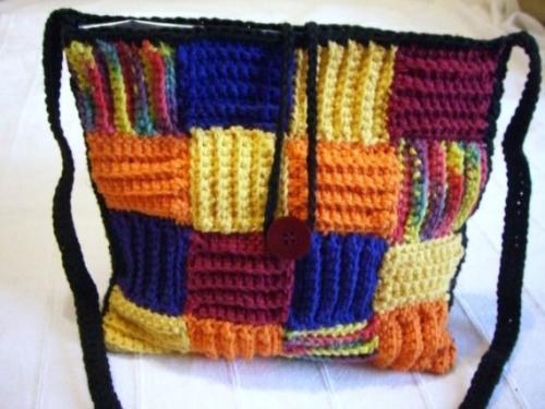il 570xN.255330962 500x375 Etsy Crochet: MultiColor BasketWeave Style Bag