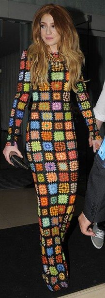 nicolaroberts m Spotted! Celebrities in Crochet