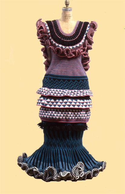 Webzine Formal Dress 1  Globally Inspired Crochet Artist Xenobia Bailey