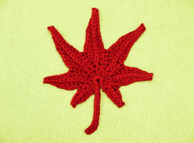 crochet maple leaf pattern