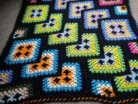 Crochet Afghan Pattern Granny Square : crochet blanket