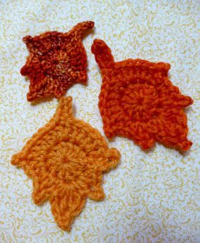pattern for crochet leaf