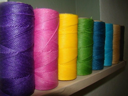 rolls 1 500x374 Yarn Review: Hilo Haven Waxed Polyester Thread