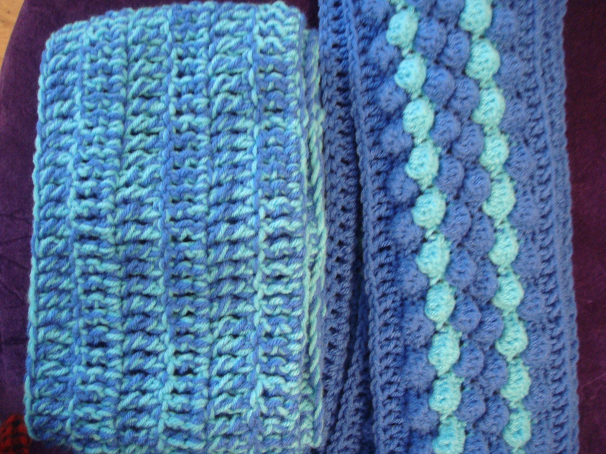 Crochet Patterns To Donate : These crochet scarves were made for 2011 Scarves for Special Olympics