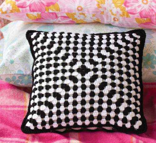 crochet pillow Granny Square Love Book Review, Blog Tour and GIVEAWAY!