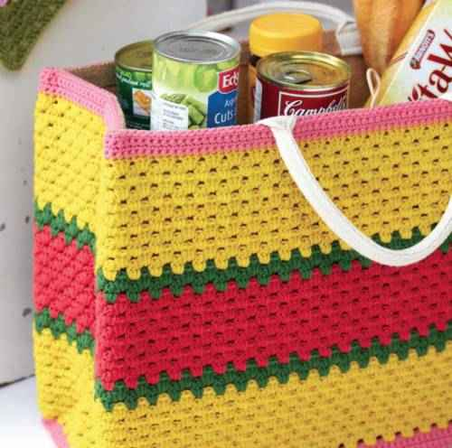 crochet tote Granny Square Love Book Review, Blog Tour and GIVEAWAY!