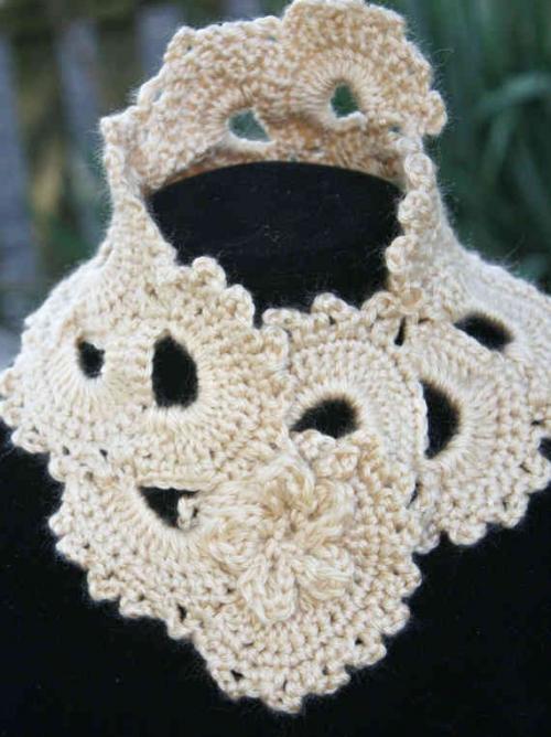 Free Victorian Lace Crochet Patterns : Etsy Crochet: Victorian Lace Neckwarmer