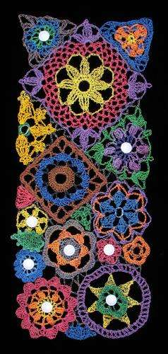 crochet flowers Recycling Crochet Artist Julie Kornblum