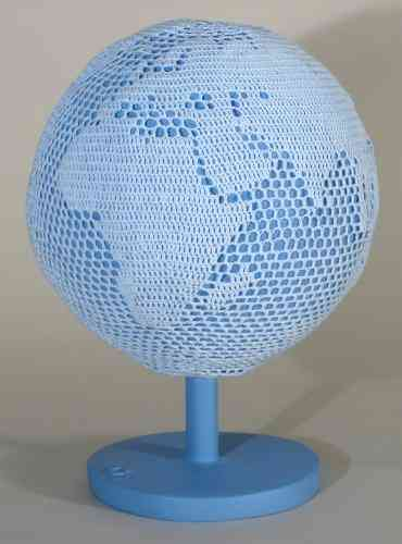 crochet globe Porcelain Crochet Artist Kristen Wicklund