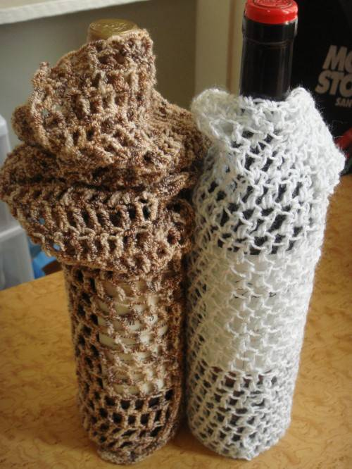 crochet wine bottles Reviewing and Reorganizing Year of Projects