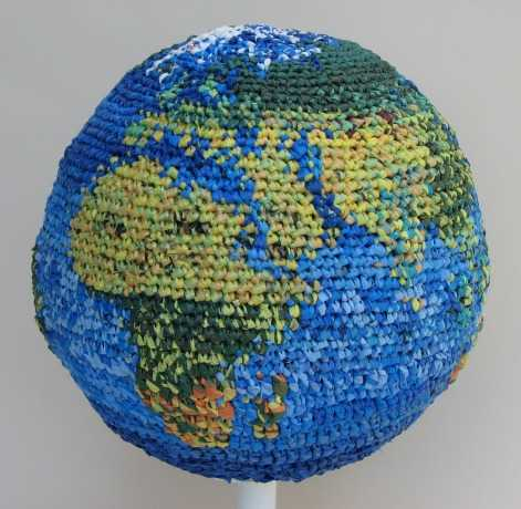 plarn art Recycling Crochet Artist Julie Kornblum